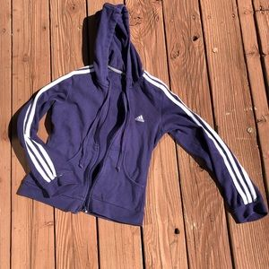 Vintage Purple Adidas Zip Up Jacket